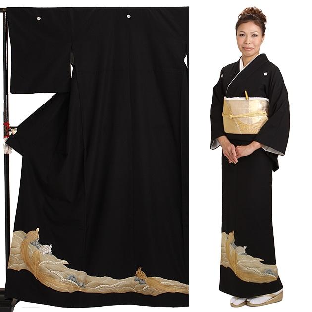 黒留袖 レンタル [標準サイズ:〜158cm] 留袖 レンタル 着物 留め袖 NT-608