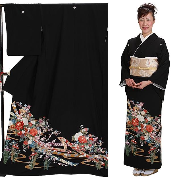 黒留袖 レンタル [標準サイズ:150cm〜163cm] 留袖 レンタル 着物 留め袖 NT-903
