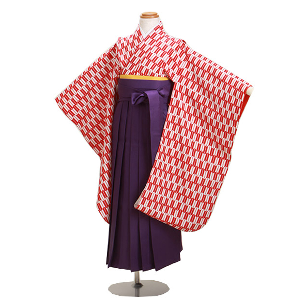 袴 レンタル 女の子/5〜7歳 七五三着物 7歳 七五三着物7歳 赤色/矢絣 卒園式 結婚式