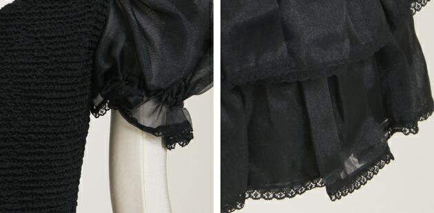 子供 ドレス レンタル 7〜8才 黒色 パフ 9-11l