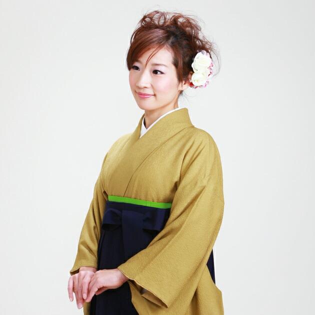 卒業式 袴 レンタル からし色 身長〜160cm,7号〜13号 NT-muji79