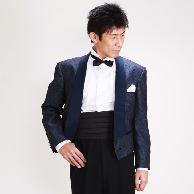 【スペンサー タキシード レンタル】M・Lサイズ/165cm〜172cm/ブルー パーティ 演奏会 pj741