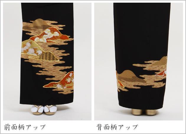 黒留袖 レンタル [標準サイズ:〜160cm] 留袖 レンタル 着物 留め袖 NT-640