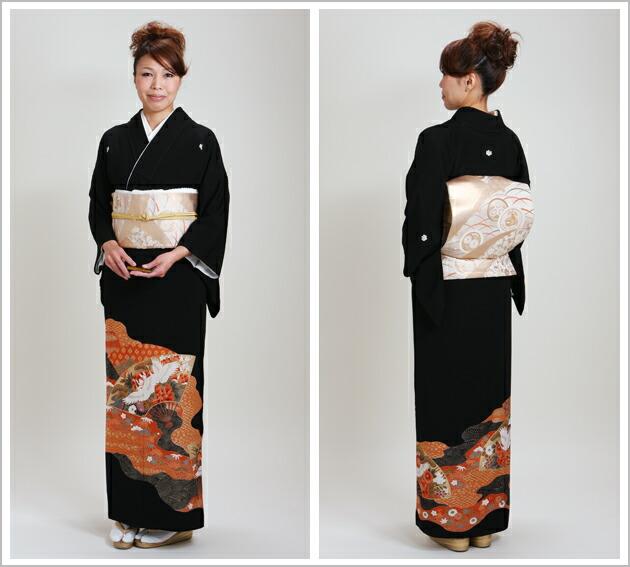 黒留袖 レンタル [小柄な方:〜150cm] 留袖 レンタル 着物 留め袖 NT-S399