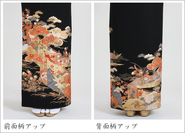 黒留袖 レンタル [標準サイズ:150cm〜165cm] 留袖 レンタル 着物 留め袖 NT-870