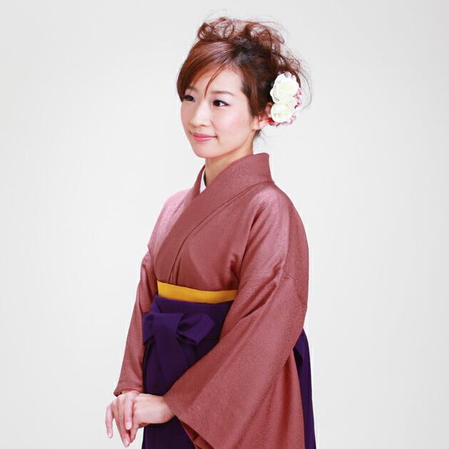 卒業式 袴 レンタル レンガ色 身長〜160cm,7号〜13号 NT-muji80