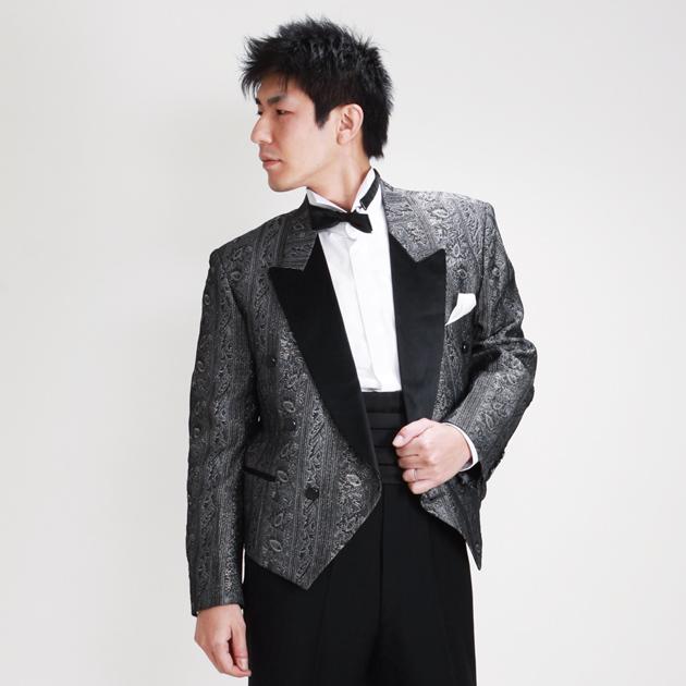 【スペンサー タキシード レンタル】M・Lサイズ/165〜172cm/グレーゴールド 005f