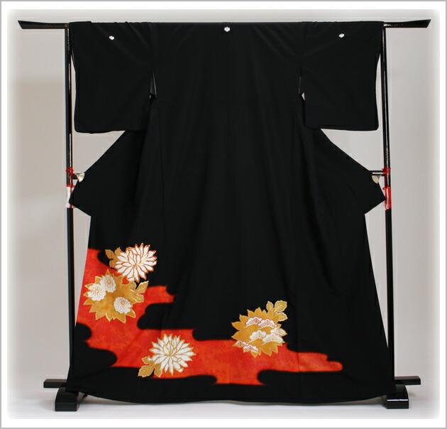 黒留袖 レンタル [標準サイズ:〜163cm] 留袖 レンタル 着物 留め袖 NT-657