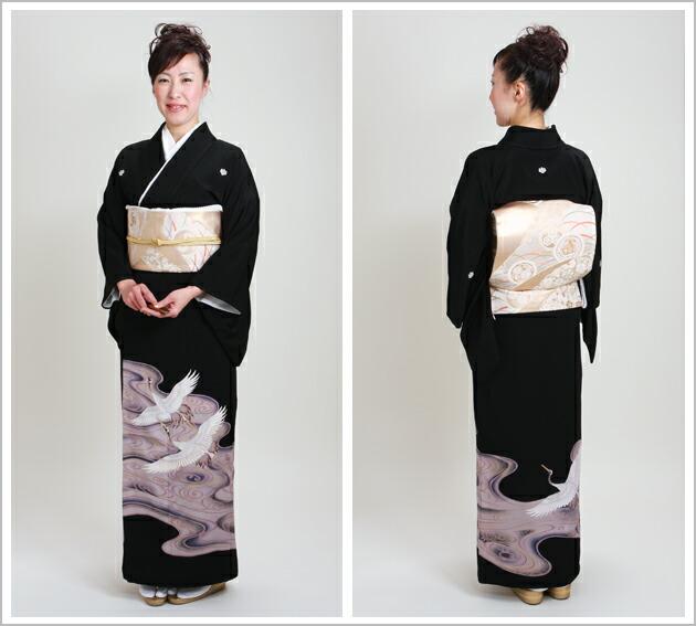 黒留袖 レンタル [標準サイズ:150cm〜163cm] 留袖 レンタル 着物 留め袖 NT-352