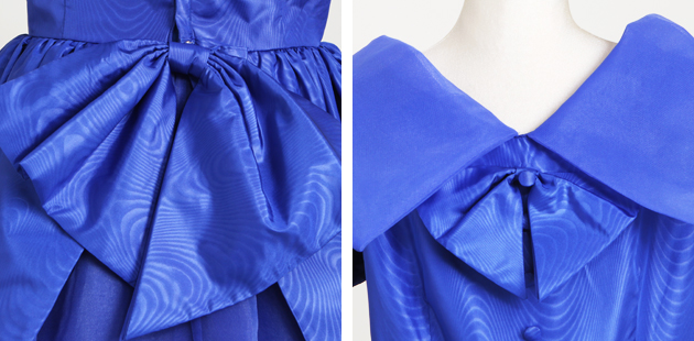 子供 ドレス レンタル 11〜12才 紺色 フレンチスリーブ 178b
