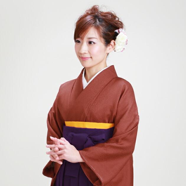 卒業式 袴 レンタル レンガ色 身長〜165cm,7号〜13号 NT-muji82