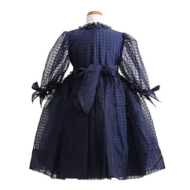 子供 ドレス レンタル 9〜10才 紺色 長袖 -c-50