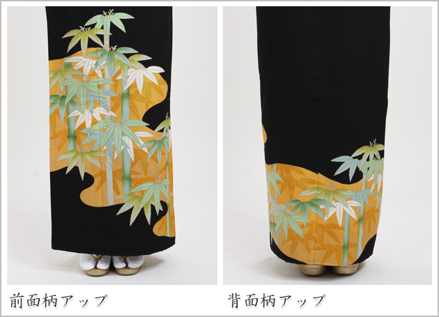 黒留袖 レンタル [小柄な方:〜148cm] 留袖 レンタル 着物 留め袖 NT-673