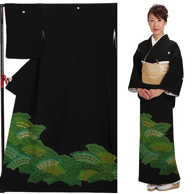 黒留袖 レンタル [標準サイズ:150cm〜155cm] 留袖 レンタル 着物 留め袖 NT-263