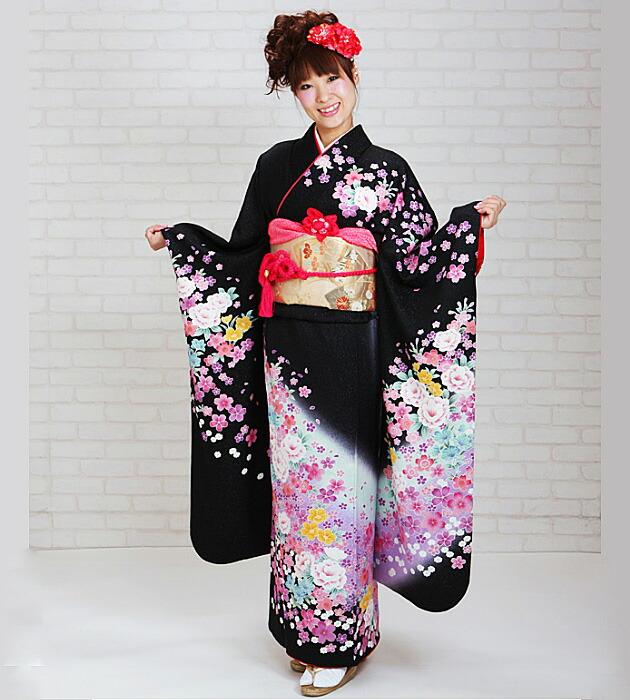 振袖 レンタル,〜168cm 赤色/四季花 菱形 蝶 結婚式 成人式 結納 NT-229