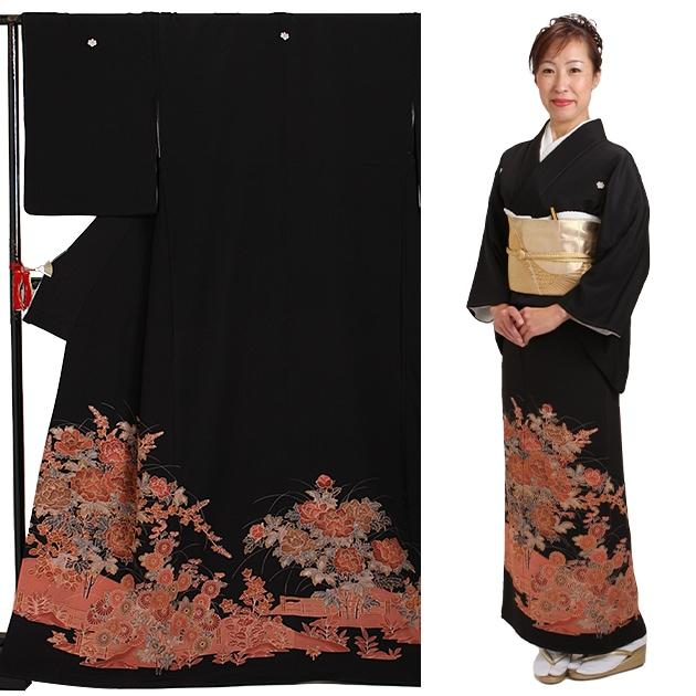 黒留袖 レンタル [標準サイズ:150cm〜160cm] 留袖 レンタル 着物 留め袖 NT-267