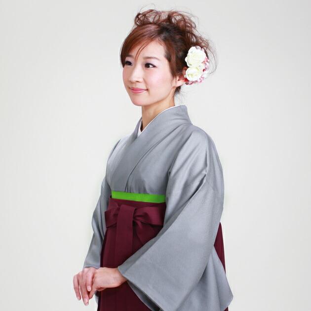 卒業式 袴 レンタル グレー色 身長〜160cm,7号〜13号 NT-muji86
