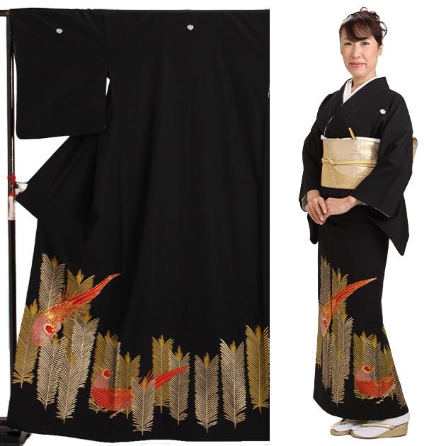 黒留袖 レンタル [標準サイズ:155cm〜163cm] 留袖 レンタル 着物 留め袖 NT-678