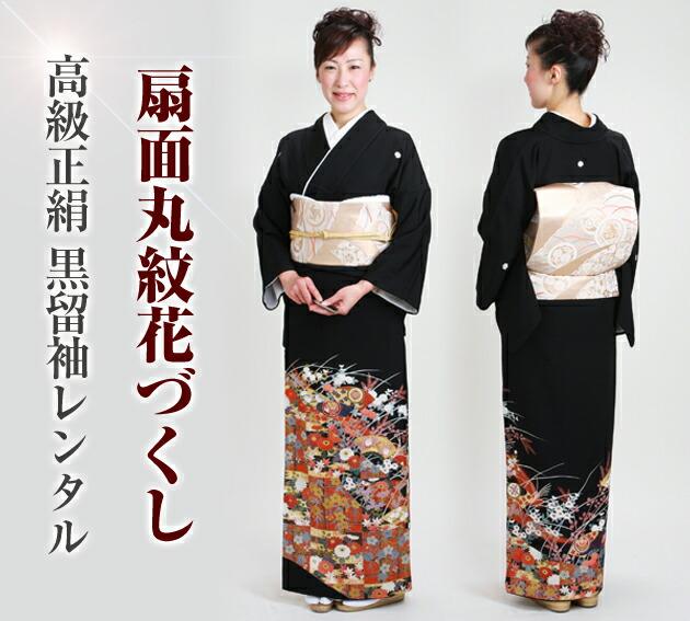 黒留袖 レンタル [標準サイズ:150cm〜160cm] 留袖 レンタル 着物 留め袖 NT-802