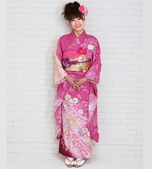 振袖 レンタル,〜168cm ピンク/桜熨斗 結婚式 成人式 結納 NT-223