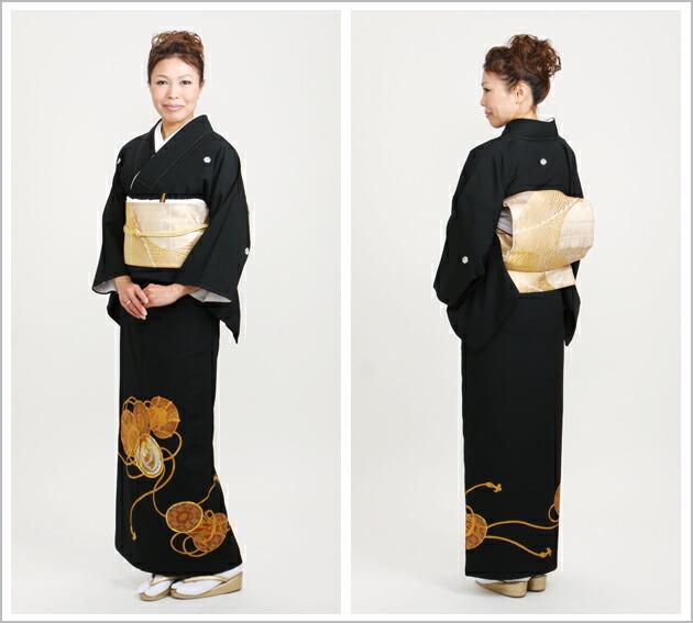 黒留袖 レンタル [標準サイズ:〜157cm] 留袖 レンタル 着物 留め袖 NT-685