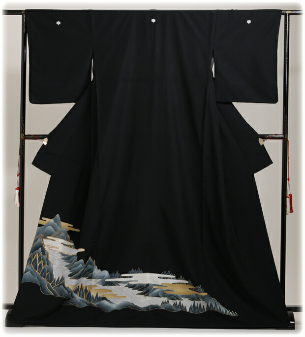 黒留袖 レンタル [標準サイズ:〜165cm] 留袖 レンタル 着物 留め袖 NT-695
