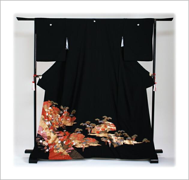 黒留袖 レンタル [標準サイズ:150cm〜163cm] 留袖 レンタル 着物 留め袖 NT-869