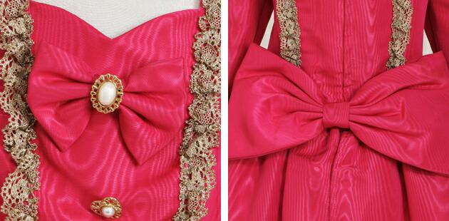 子供 ドレス レンタル 11〜12才 チェリーピンク色 長袖 -ej369