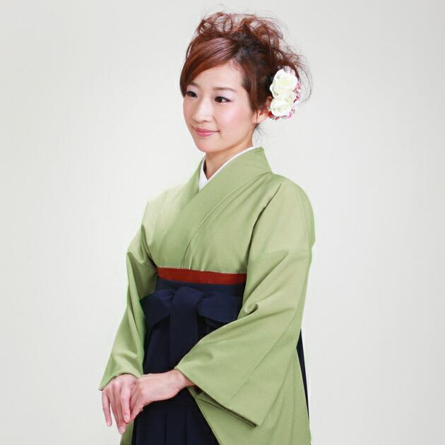 卒業式 袴 レンタル 薄うぐいす色 身長〜160cm,7号〜13号 NT-muji90
