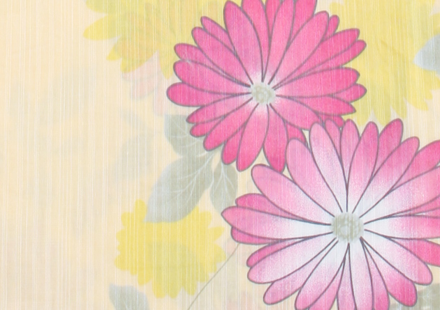 【浴衣 レンタル】レディース 3点セット☆浴衣・帯・下駄☆nt-y029 薄黄色/花