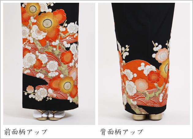 黒留袖 レンタル [標準サイズ:〜158cm] 留袖 レンタル 着物 留め袖 NT-703