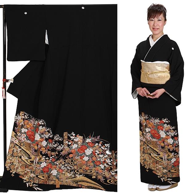 黒留袖 レンタル [標準サイズ:150cm〜163cm] 留袖 レンタル 着物 留め袖 NT-873
