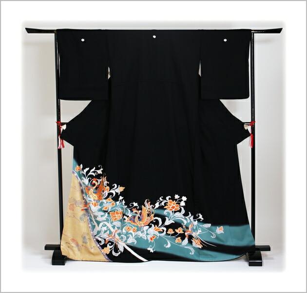 黒留袖 レンタル [標準サイズ:150cm〜165cm] 留袖 レンタル 着物 留め袖 NT-809