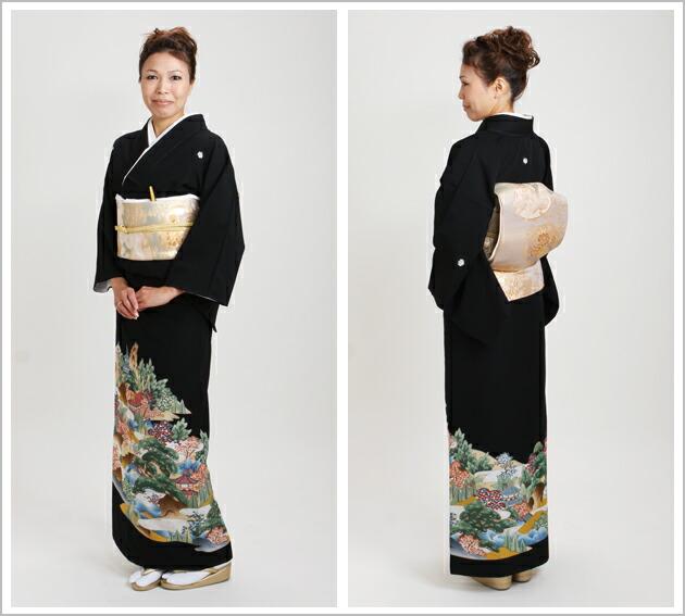 黒留袖 レンタル [標準サイズ:〜158cm] 留袖 レンタル 着物 留め袖 NT-711