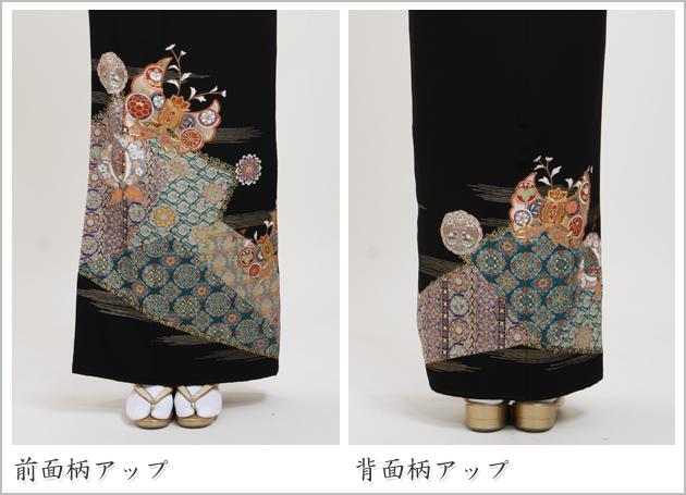 黒留袖 レンタル [トールサイズ:160cm〜170cm] 留袖 レンタル 着物 留め袖 NT-894