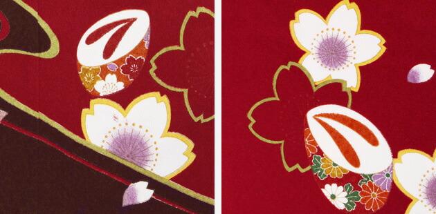 袴 レンタル 女の子/5〜7歳 七五三着物 7歳 七五三着物7歳 ローズ色/花ちりめん 卒園式 結婚式 ★NT-袴138