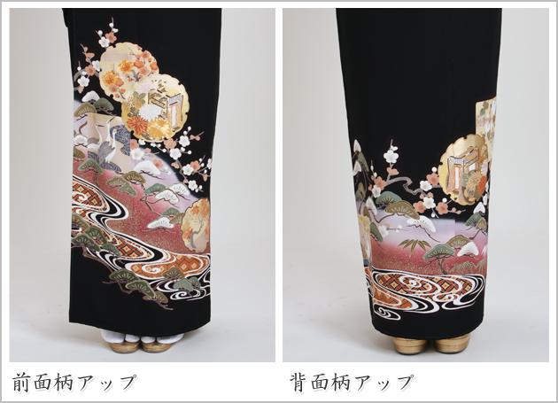 黒留袖 レンタル [標準サイズ:150cm〜165cm] 留袖 レンタル 着物 留め袖 NT-925
