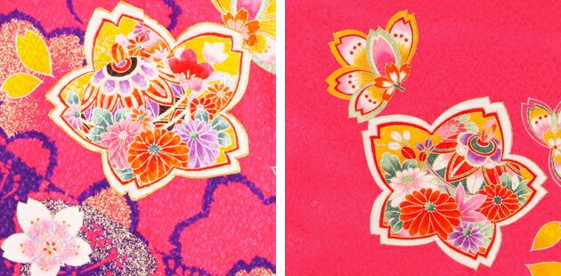 袴 レンタル 女の子/5〜7歳 七五三着物 7歳 七五三着物7歳 ピンク色/花 卒園式 結婚式 ★NT-袴143