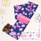 【浴衣 レンタル】レディース 3点セット☆浴衣・帯・下駄☆nt-y036 紺色/バラ