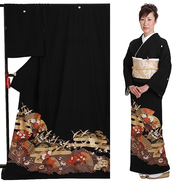 黒留袖 レンタル [トールサイズ:160cm〜170cm] 留袖 レンタル 着物 留め袖 NT-906