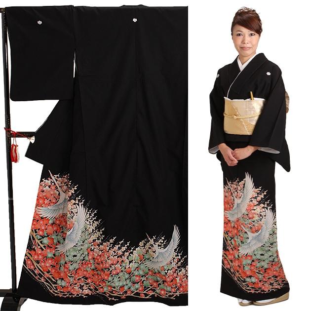 黒留袖 レンタル [標準サイズ:〜160cm] 留袖 レンタル 着物 留め袖 NT-727