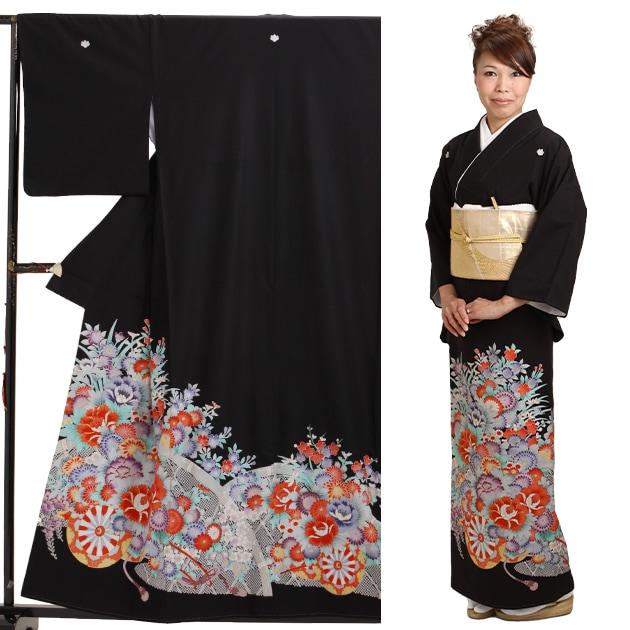 黒留袖 レンタル [標準サイズ:〜156cm] 留袖 レンタル 着物 留め袖 NT-728