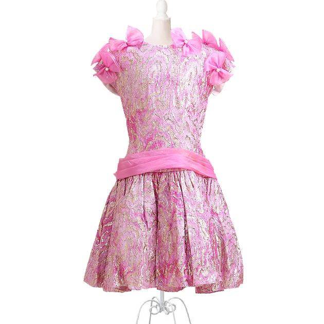 子供 ドレス レンタル 11〜12才 ピンク色 フレンチスリーブ -k621-2