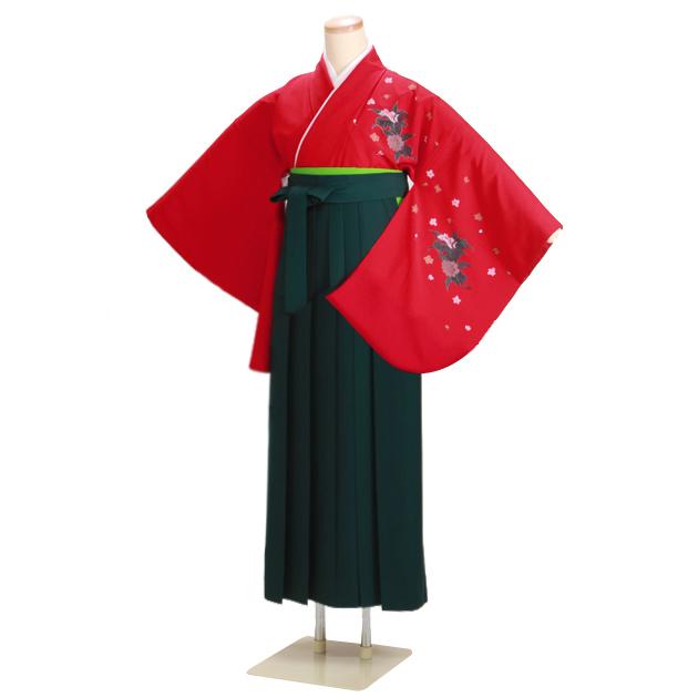 卒業式 袴 レンタル 赤色 身長〜150cm,7号〜13号 NT-227