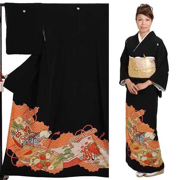 黒留袖 レンタル [小柄な方:〜150cm] 留袖 レンタル 着物 留め袖 NT-s100