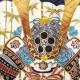 七五三 レンタル 男の子/3歳 紺色/かぶと〔身長:96cm,98cm,100cm〕卒園式 結婚式 NT-302