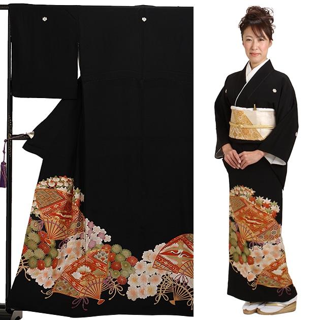 黒留袖 レンタル [小柄な方:〜153cm] 留袖 レンタル 着物 留め袖 NT-s189