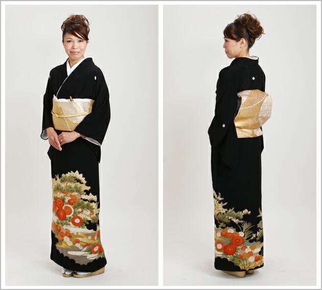 黒留袖 レンタル [小柄な方:〜150cm] 留袖 レンタル 着物 留め袖 NT-s206