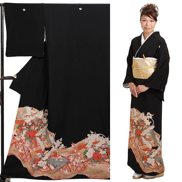 黒留袖 レンタル [小柄な方:〜150cm] 留袖 レンタル 着物 留め袖 NT-s318