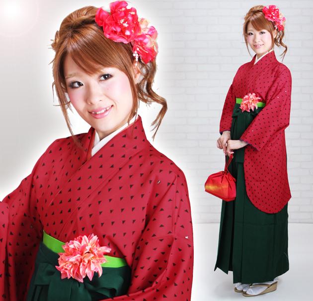 卒業式 袴 レンタル 赤色 コシノ 身長〜170cm,7号〜13号 NT-244